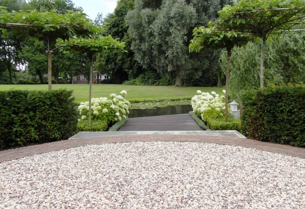 Tuinuitzicht op het water tuin aan het water landelijke tuin