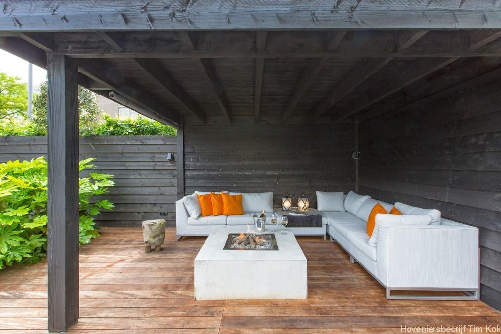 Welnesstuin rotterdam hillegersberg hoveniersbedrijf tim kok - Moderne hoek lounge ...