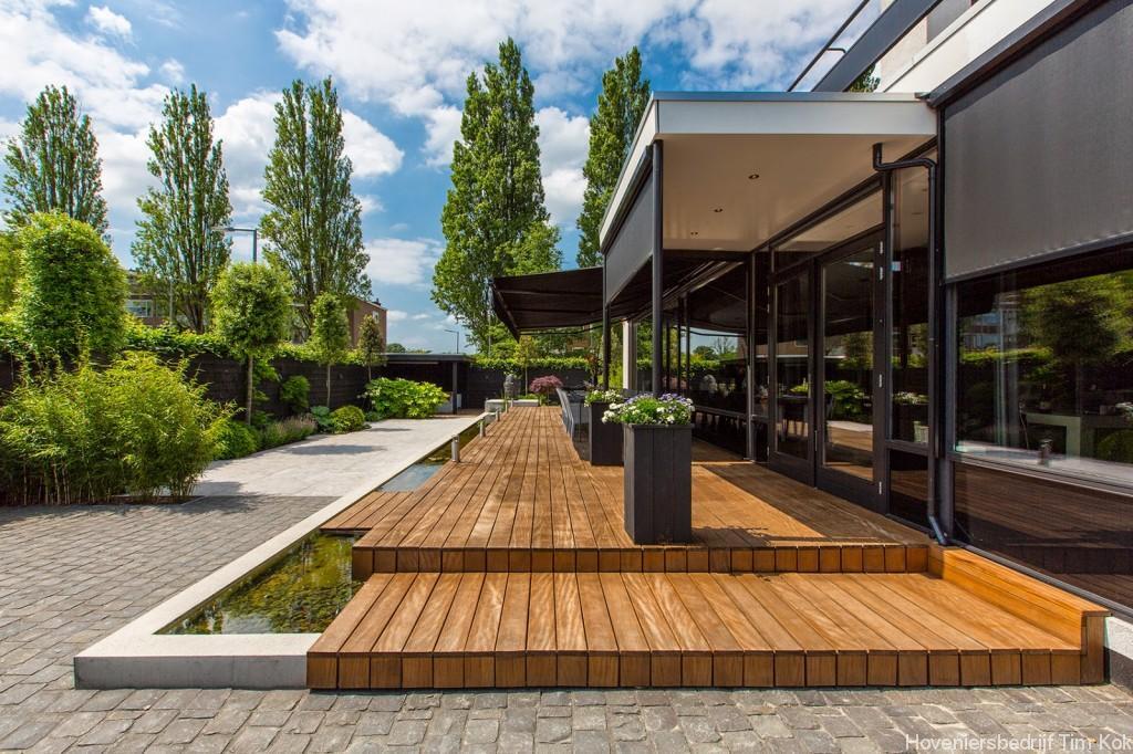 Welnesstuin rotterdam hillegersberg hoveniersbedrijf tim kok - Modern stenen huis ...