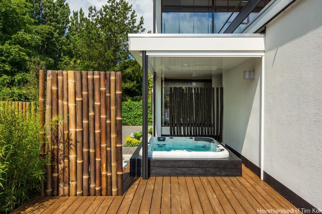 Welnesstuin rotterdam hillegersberg hoveniersbedrijf tim kok for Moderne tuin met jacuzzi