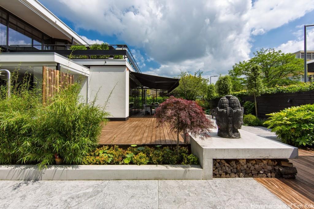 Grote Moderne Tuin : Tuin met groot terras: moderne tuin greenart.