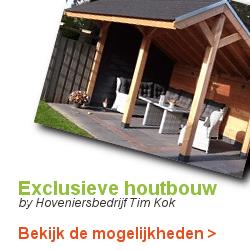 Exclusieve houtbouw door Hoveniersbedrijf Tim Kok